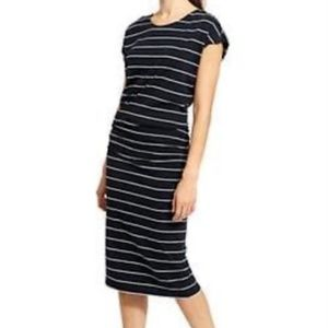 Athleta Midi BW Striped Dress Size M